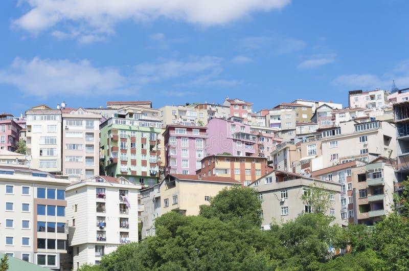 Zone résidentielle à Istanbul images stock