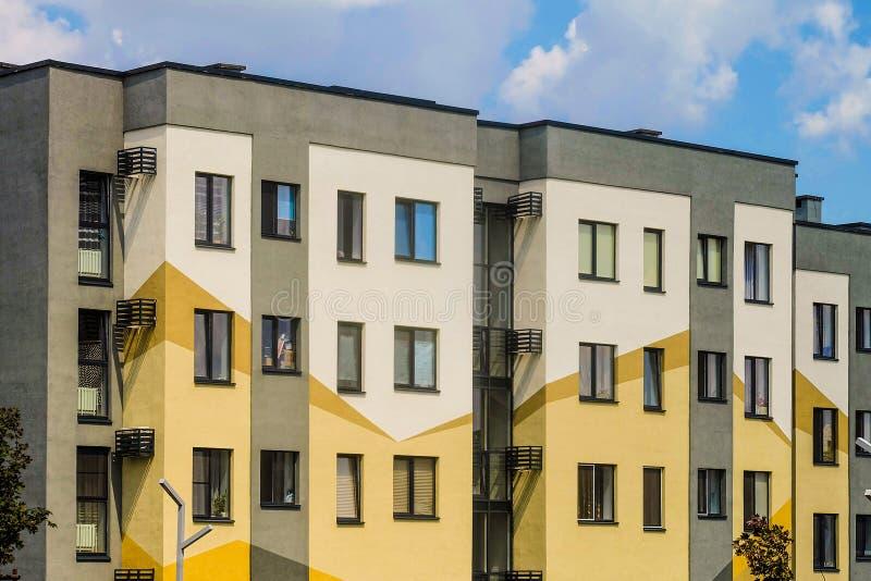 Zone résidentielle du sud-ouest de Belgorod, Russie Novaya Zhizn New Life photographie stock libre de droits