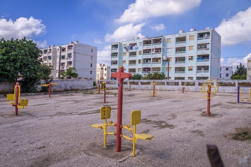 Zone résidentielle pauvre au Trinidad, Cuba photographie stock libre de droits