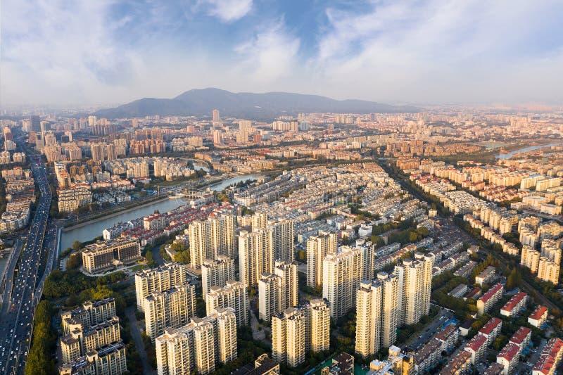 Zone residenziali a Nanchino immagini stock