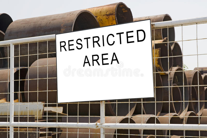 Zone restreinte photos libres de droits