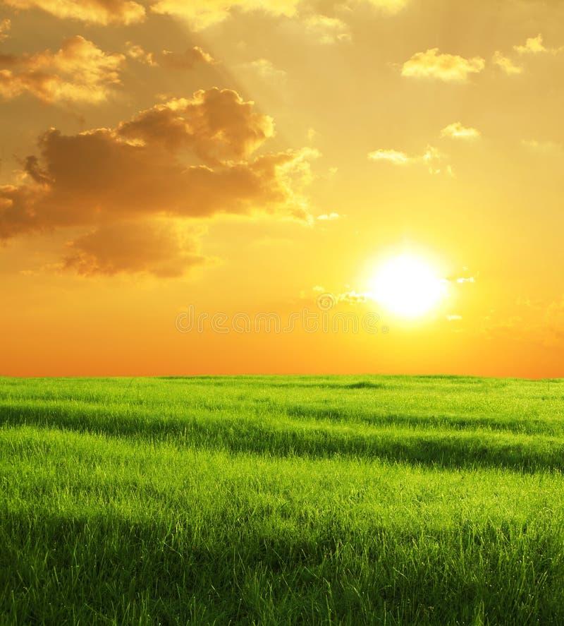 Zone sur le coucher du soleil image libre de droits