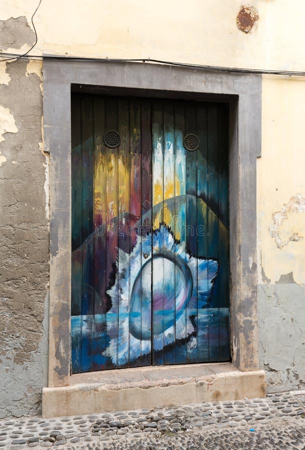 Zone Velha - le secteur le plus ancien célèbre pour ses meilleurs restaurants et cafés à Funchal La Madère, image stock