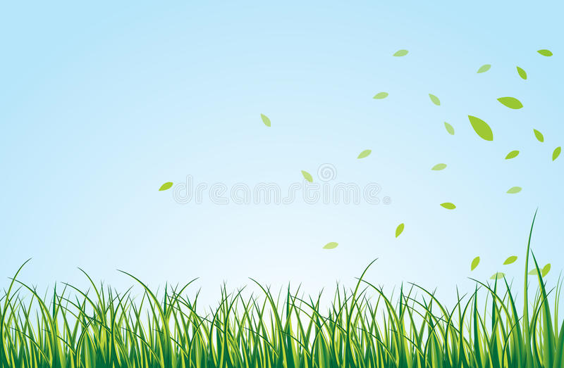 Zone verte illustration de vecteur