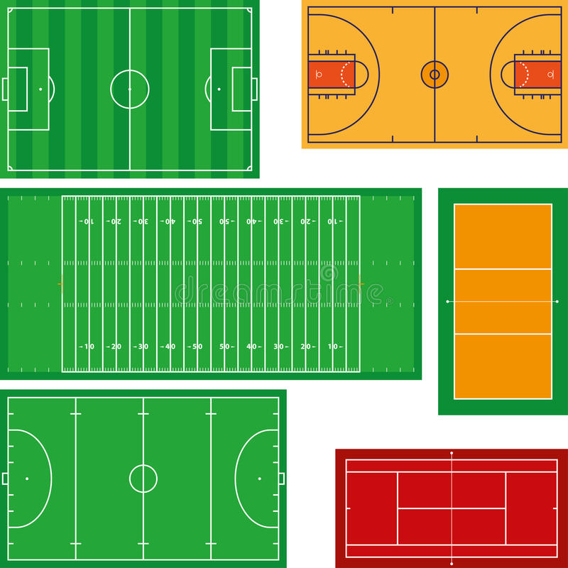 Zones de sport illustration stock