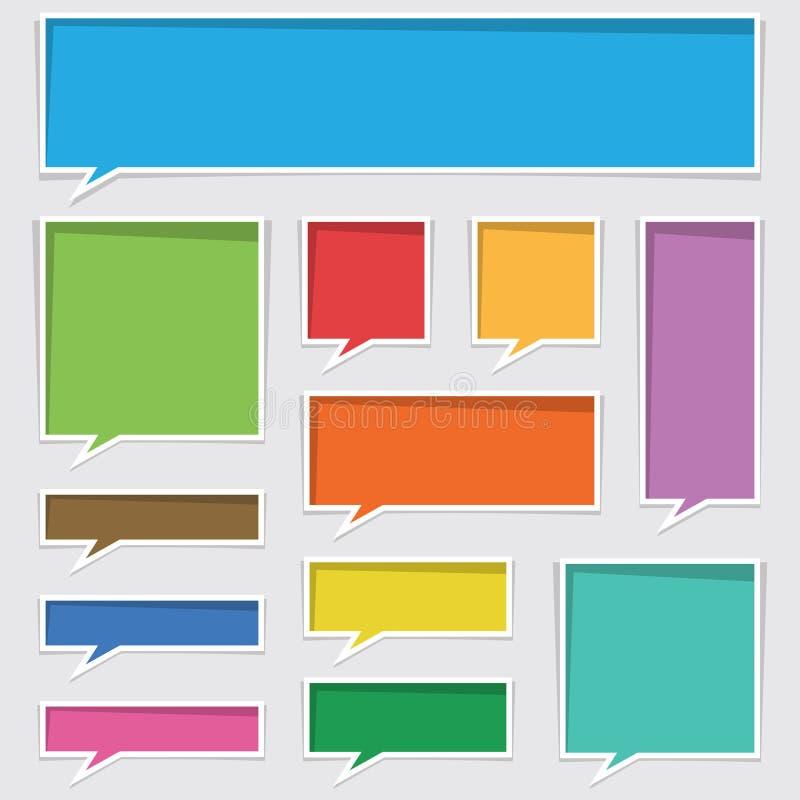 Zones de texte illustration libre de droits
