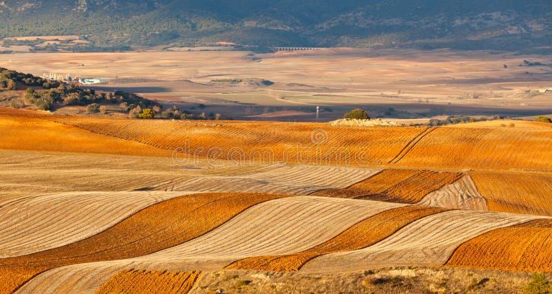 Zones et côtes de l'hiver Espagne images libres de droits