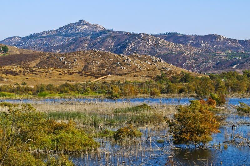 Zones humides, comté de San Diego, la Californie images libres de droits
