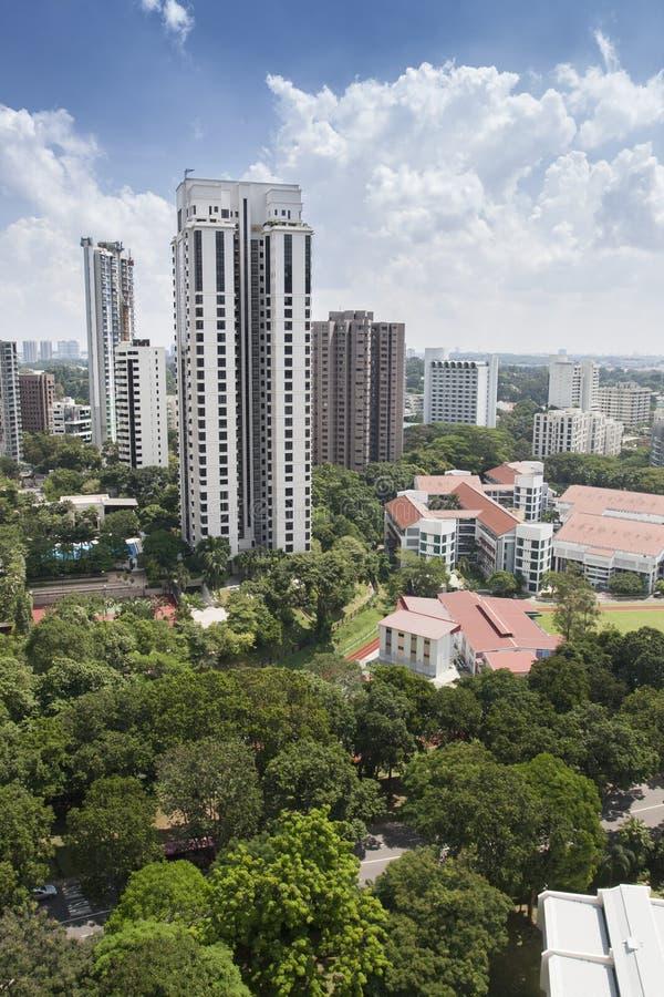 Zones résidentielles à Singapour photo libre de droits