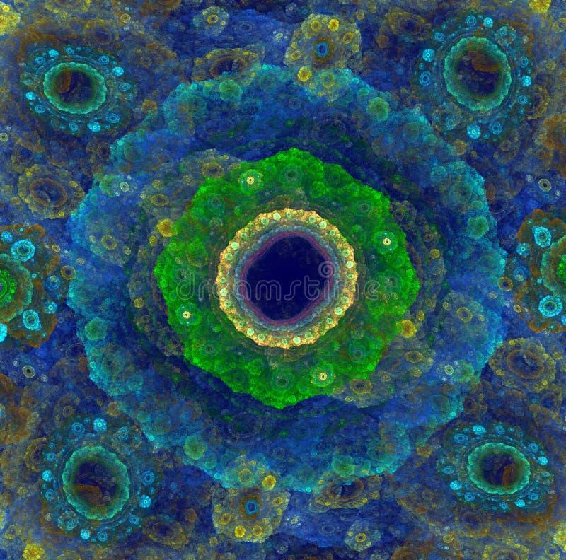 Zonflitsen Mooie abstracte achtergrond met kleurrijke die fractal door computer wordt geproduceerd royalty-vrije stock afbeelding