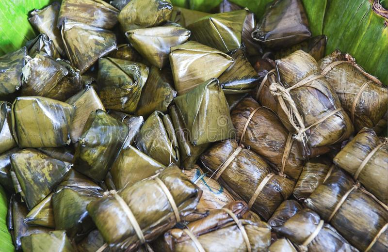 Zongzi of Bak Chang - Vietnam royalty-vrije stock foto's