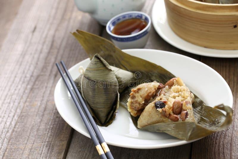 Zongzi, bola de masa hervida china del arroz foto de archivo libre de regalías