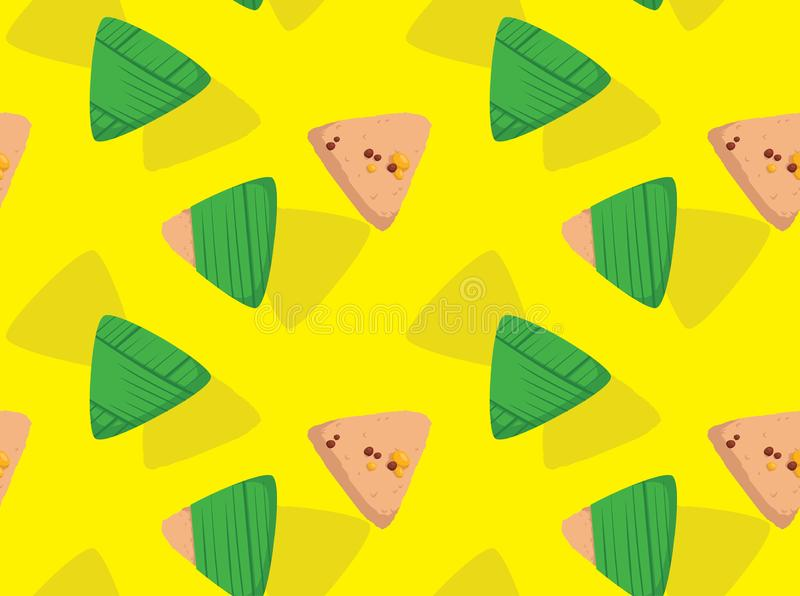 Zongzi Dragon Boat Festival Background Seamless Wallpaper. Dessert Wallpaper EPS10 File Format vector illustration