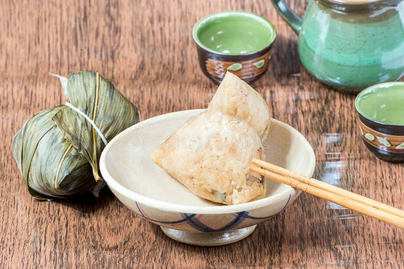 Zongzi eller klimp för klibbiga ris arkivfoton