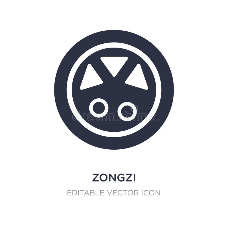 Zongzi icon on white background. Simple element illustration from Food and restaurant concept. Zongzi icon symbol design stock illustration