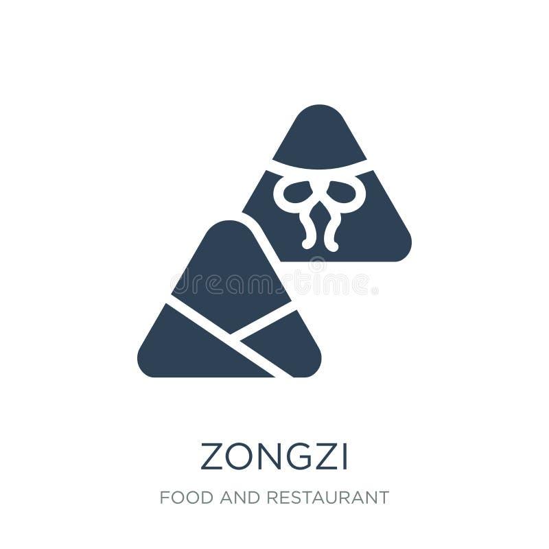 zongzi ikona w modnym projekta stylu zongzi ikona odizolowywająca na białym tle zongzi wektorowej ikony prosty i nowożytny płaski royalty ilustracja