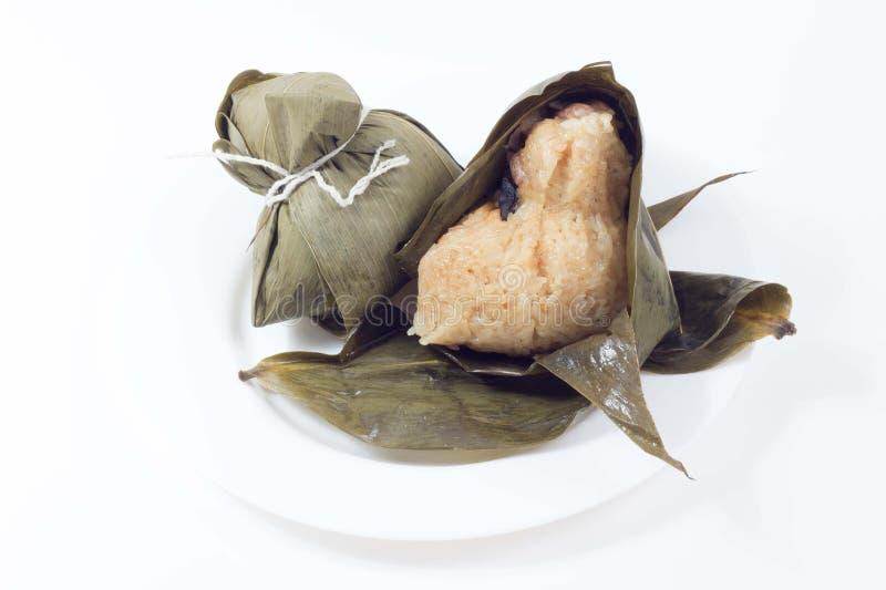 Zongzi o bola de masa hervida del arroz pegajoso fotos de archivo libres de regalías