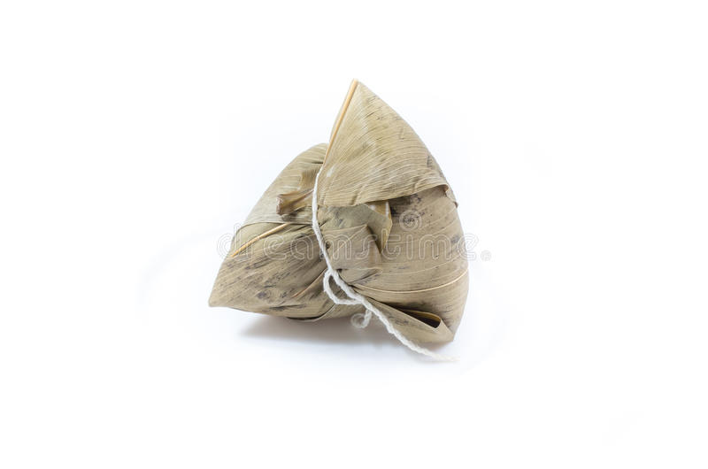 Zongzi o bola de masa hervida del arroz pegajoso fotos de archivo