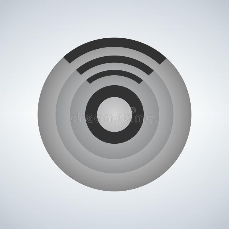 Zonkontroll, wifi, internet, teknologi, applikationlogo, vektor Logo Template vektor illustrationer
