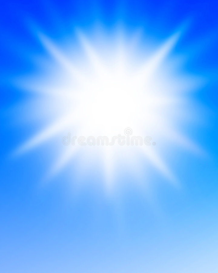 Zonlicht vector illustratie