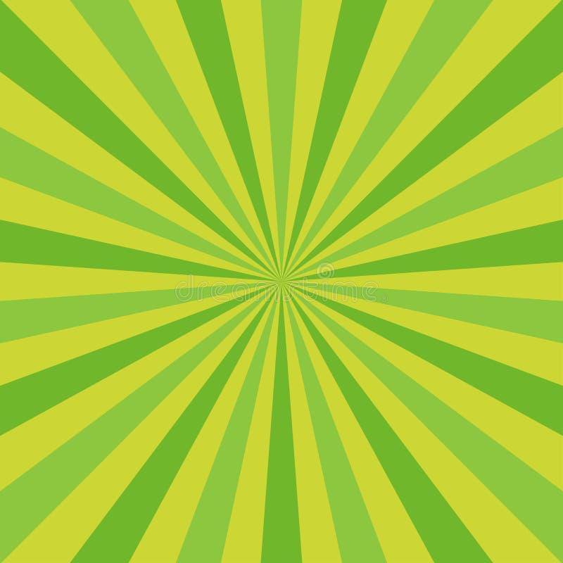 Zonlicht abstracte achtergrond De groene achtergrond van de kleurenuitbarsting vector illustratie