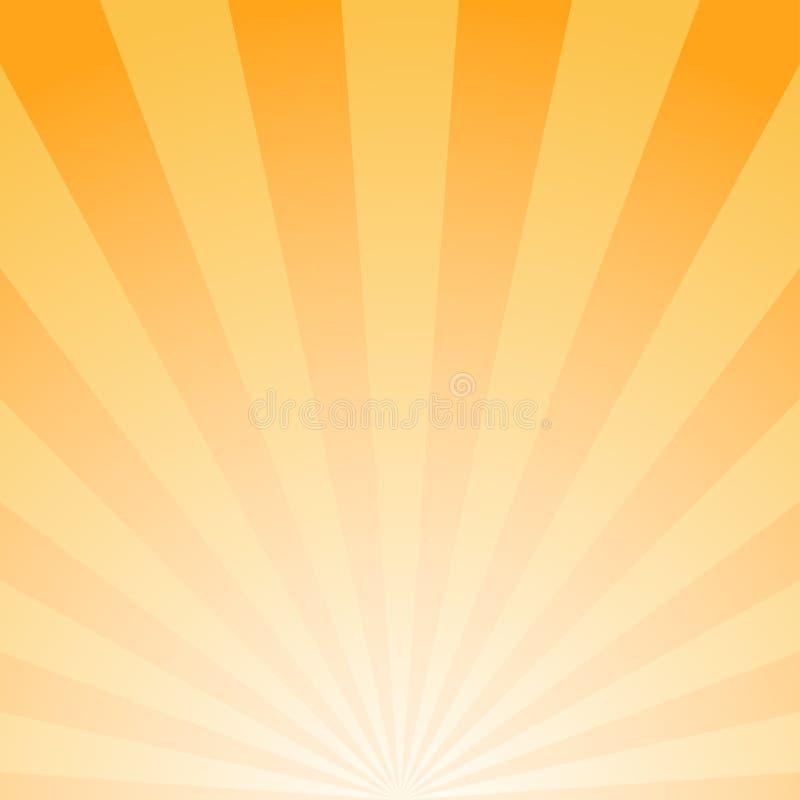 Zonlicht abstracte achtergrond De oranje en gouden achtergrond van de kleurenuitbarsting Vector illustratie royalty-vrije illustratie