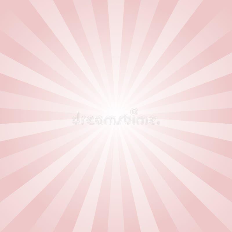Zonlicht abstracte achtergrond De roze achtergrond van de kleurenuitbarsting stock illustratie