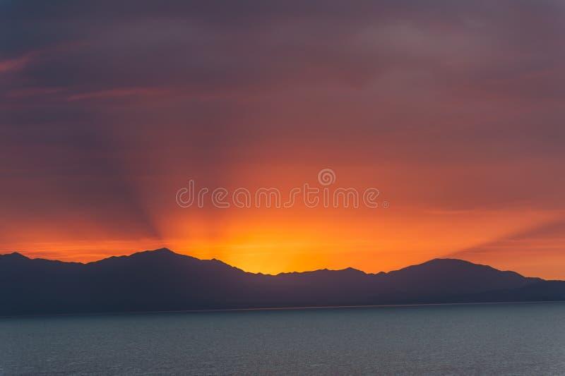 Zonlicht bij de zonsopgang stock foto's