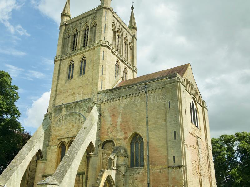 Zonlicht op de abdij stock afbeeldingen