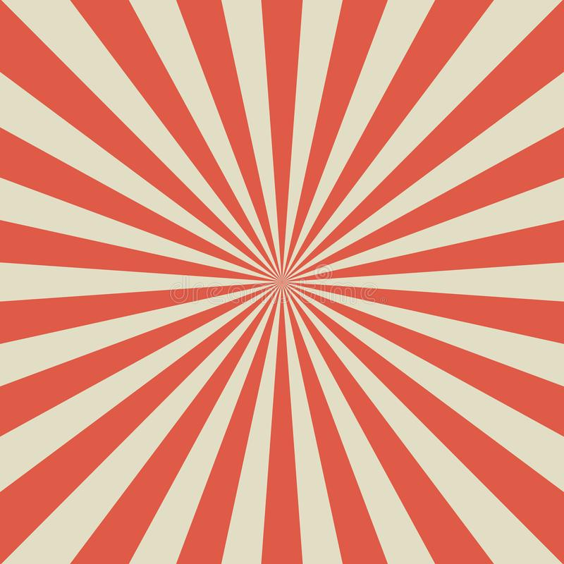 Zonlicht retro langzaam verdwenen achtergrond De bleke rode en beige achtergrond van de kleurenuitbarsting vector illustratie