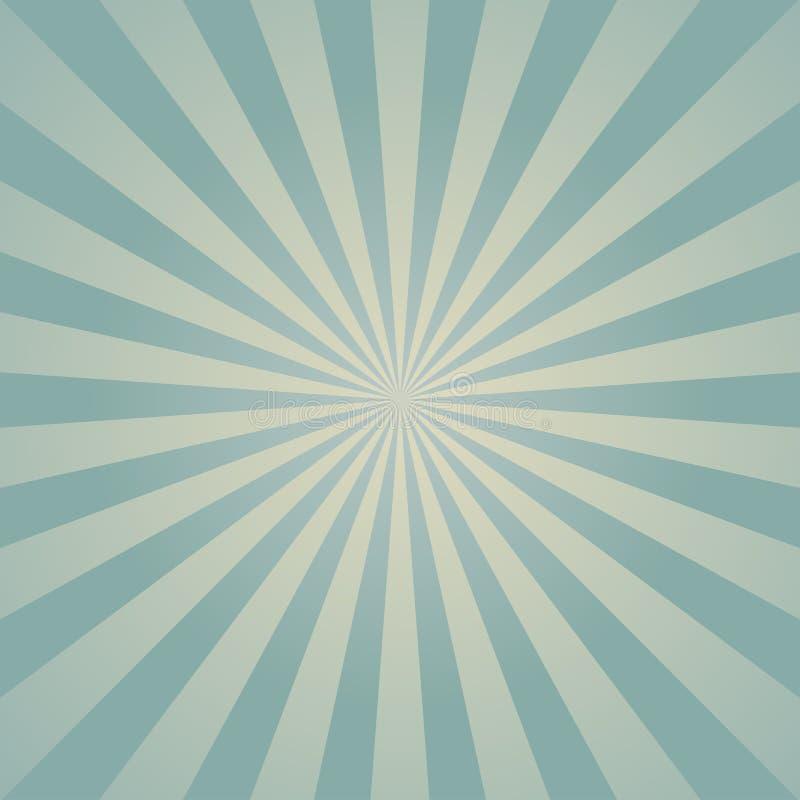 Zonlicht retro langzaam verdwenen achtergrond De lichtblauwe achtergrond van de kleurenuitbarsting royalty-vrije illustratie