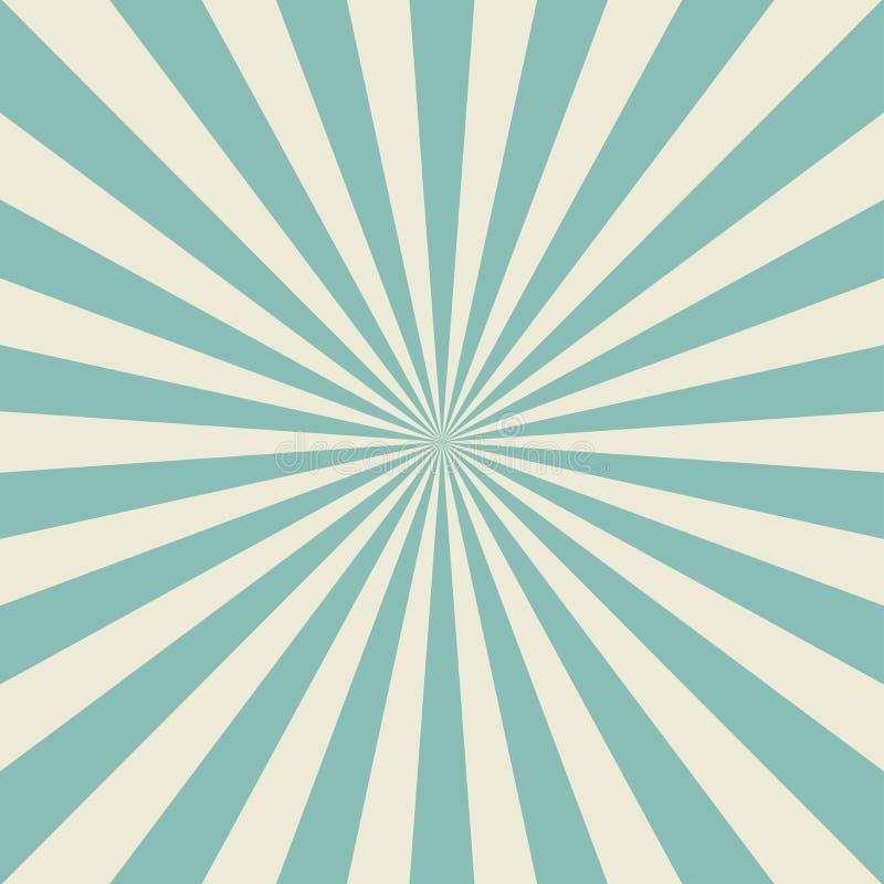 Zonlicht retro langzaam verdwenen achtergrond De lichtblauwe achtergrond van de kleurenuitbarsting stock illustratie