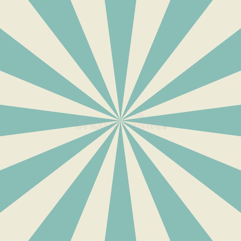 Zonlicht retro langzaam verdwenen achtergrond De lichtblauwe achtergrond van de kleurenuitbarsting vector illustratie