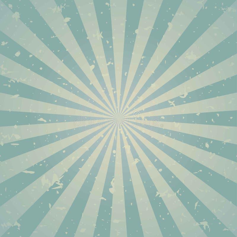 Zonlicht retro langzaam verdwenen grunge achtergrond de blauwe en beige achtergrond van de kleurenuitbarsting Vector illustratie stock illustratie