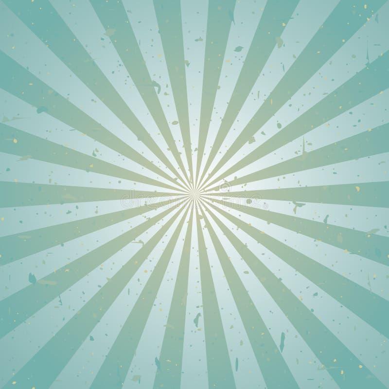 Zonlicht retro langzaam verdwenen grunge achtergrond de blauwe en beige achtergrond van de kleurenuitbarsting Vector illustratie vector illustratie
