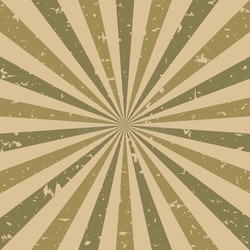 Zonlicht retro langzaam verdwenen grunge achtergrond de bruine en beige achtergrond van de kleurenuitbarsting Vector illustratie vector illustratie