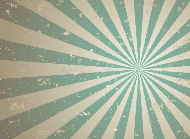Zonlicht retro langzaam verdwenen grunge achtergrond de groene en beige achtergrond van de kleurenuitbarsting royalty-vrije illustratie