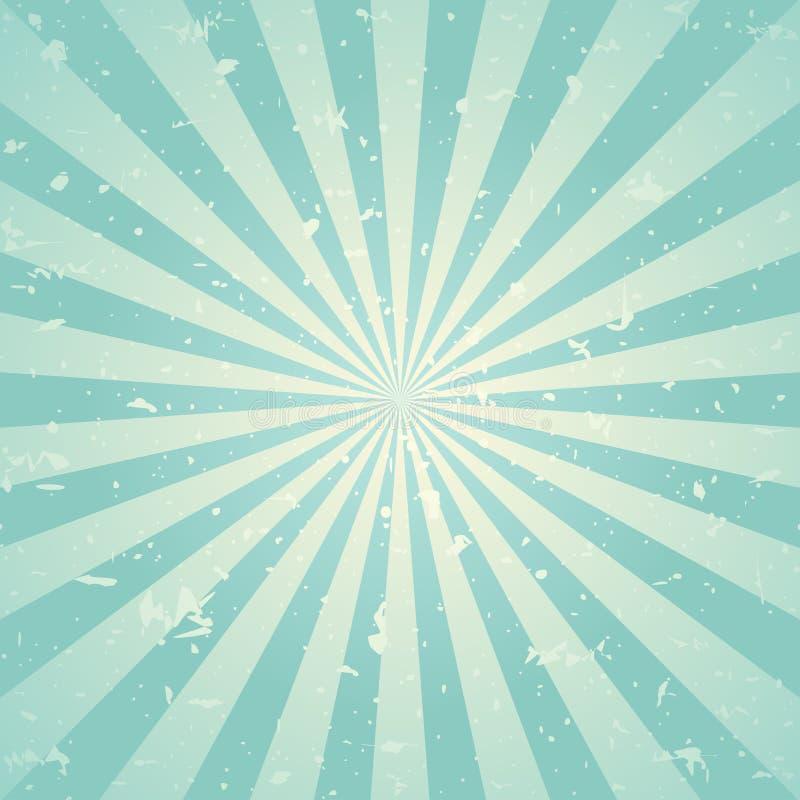 Zonlicht retro langzaam verdwenen grunge achtergrond de groene en beige achtergrond van de kleurenuitbarsting Vector illustratie stock illustratie