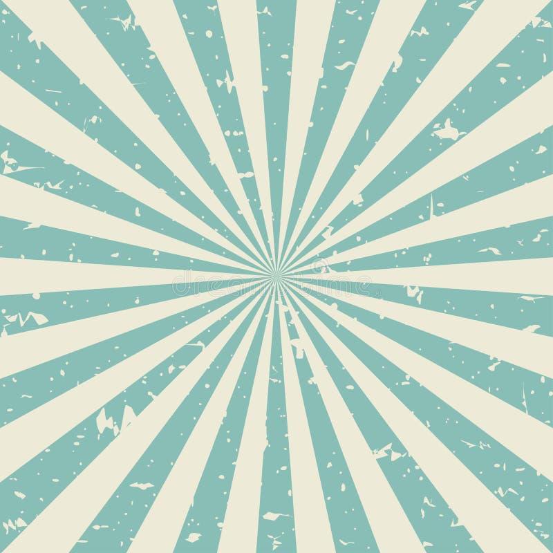 Zonlicht retro langzaam verdwenen grunge achtergrond de groene en beige achtergrond van de kleurenuitbarsting Vector illustratie vector illustratie