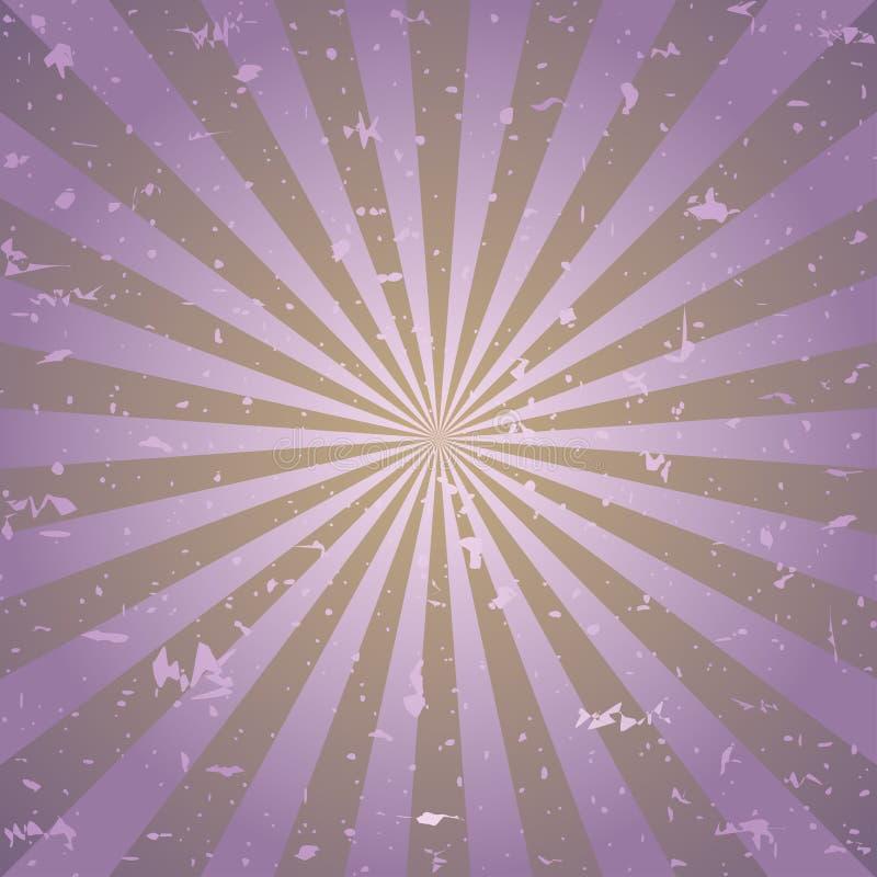 Zonlicht retro langzaam verdwenen grunge achtergrond de purpere en bruine achtergrond van de kleurenuitbarsting Vector illustrati royalty-vrije illustratie