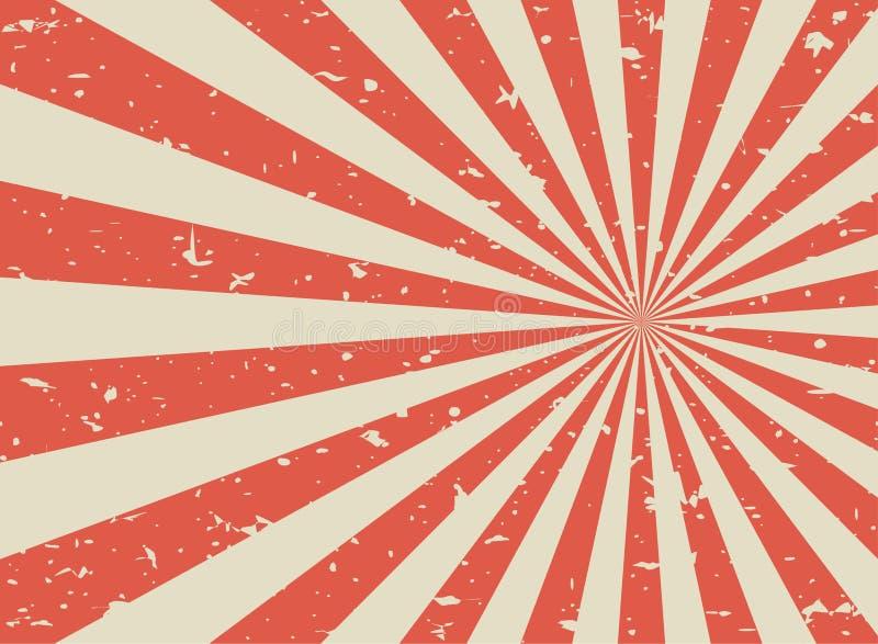 Zonlicht retro langzaam verdwenen grunge achtergrond de rode en beige achtergrond van de kleurenuitbarsting stock illustratie