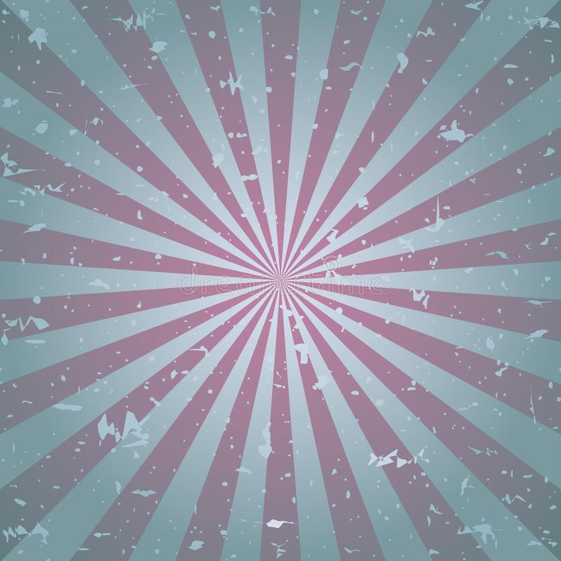 Zonlicht retro langzaam verdwenen grunge achtergrond de roze en beige achtergrond van de kleurenuitbarsting Vector illustratie stock illustratie