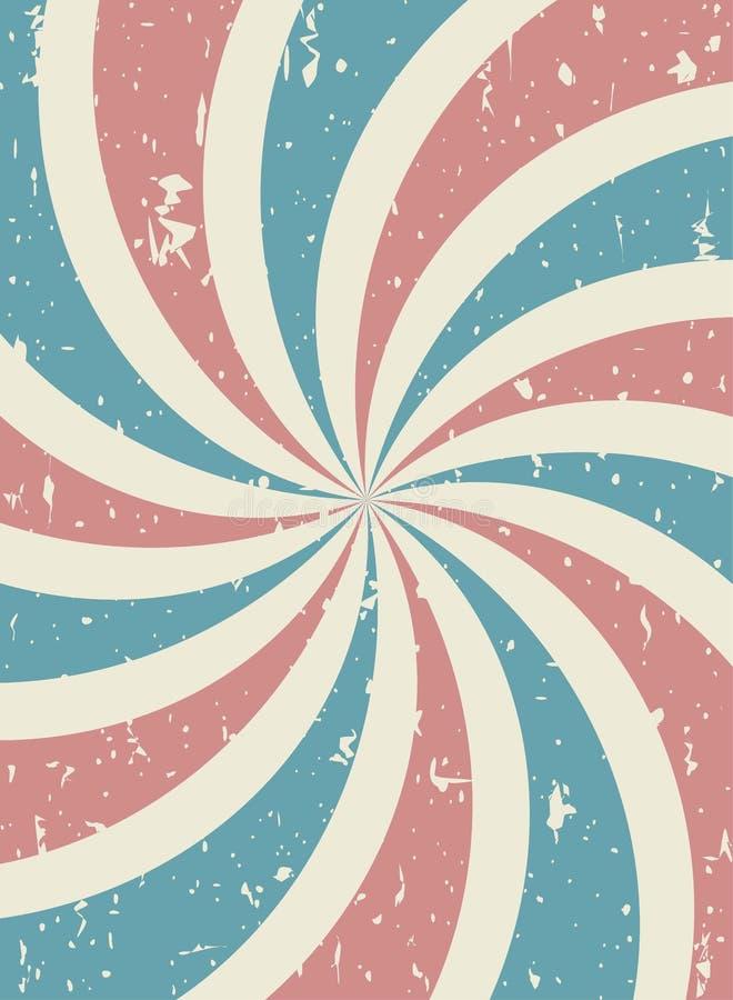 Zonlicht retro langzaam verdwenen grunge achtergrond de achtergrond van de blauwe en rode kleurenuitbarsting Vector verticale ill vector illustratie