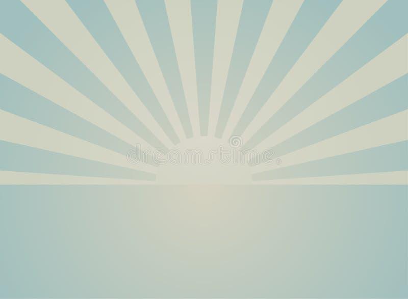 Zonlicht retro langzaam verdwenen grunge affiche de groene en beige achtergrond van de kleurenuitbarsting royalty-vrije illustratie