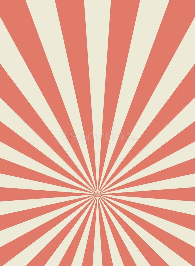 Zonlicht retro smalle verticale achtergrond De bleke rode en beige achtergrond van de kleurenuitbarsting De vectorillustratie van royalty-vrije illustratie