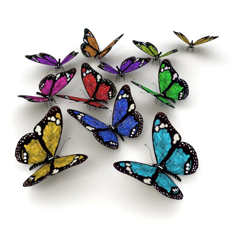 Zonne aangedreven vlinders royalty-vrije illustratie