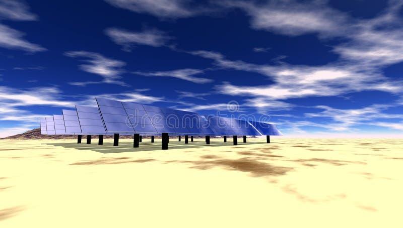 Zonne Elektrisch vector illustratie