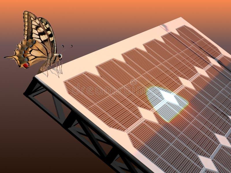 Zonne-energie vector illustratie