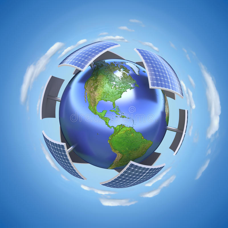 Zonne-energieconcept royalty-vrije illustratie