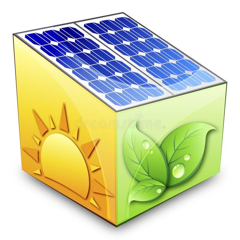 Zonne-energieconcept stock illustratie